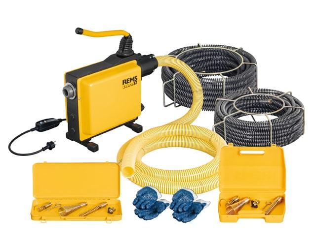 Eлектрическа машина за почистване на тръби REMS Cobra 32 Set 22+32