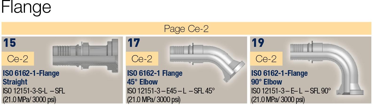 Flange фитинги за средно налягане, 2бр. серия 48