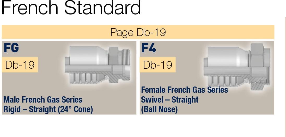 French Standart фитинги за високо налягане, серия 70