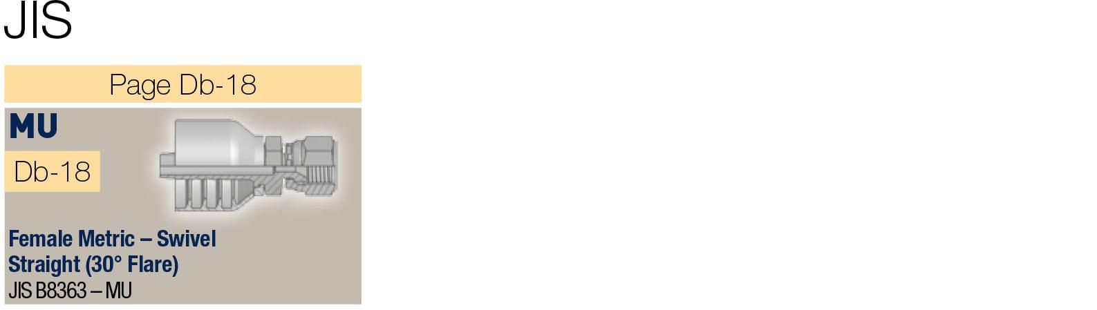 JIS фитинги за високо налягане, серия 70