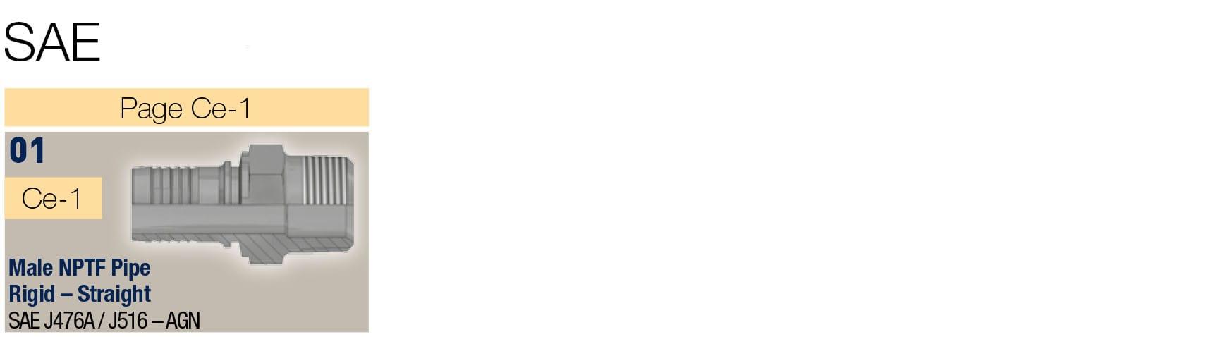 SAE фитинги за средно налягане, 2бр. серия 48